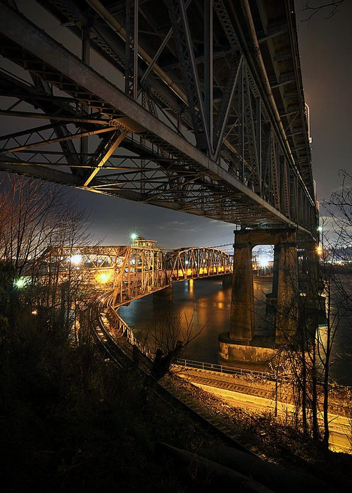 Built Structure Greeting Card featuring the photograph Underbelly by Kevin Van Der Leek Photography