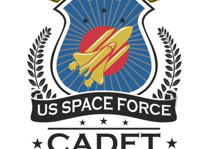 Space-force Greeting Card featuring the digital art Us Space Force Academy Crew Cadet Trainee Recruit Light by Nikita Goel