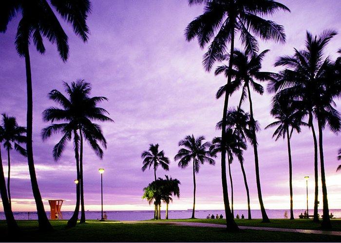 Scenics Greeting Card featuring the photograph Usa, Hawaii, Oahu, Honolulu, Waikiki by Maremagnum