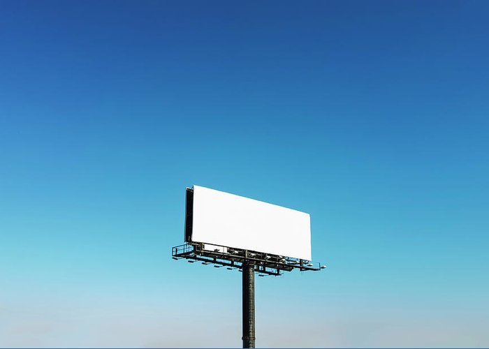 North Carolina Greeting Card featuring the photograph Usa, North Carolina, Billboard Under by Tetra Images