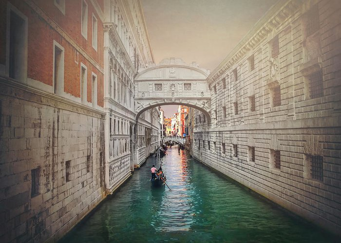 Bridge Of Sighs Greeting Card featuring the photograph Venice Italy Bridge Of Sighs by Carol Japp