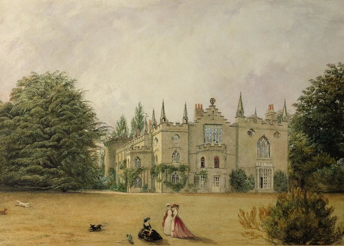 Horace Walpole Greeting Card featuring the painting View Of Strawberry Hill Middlesex by Gustave Ellinthorpe Sintzenich