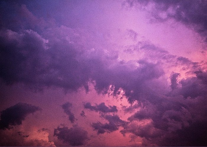 Scenics Greeting Card featuring the photograph Violet Sky by Richard Newton / Daddynewt