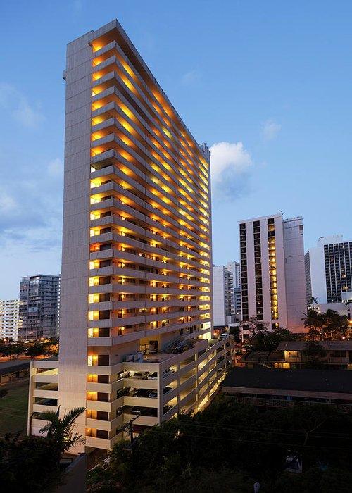 Honolulu Greeting Card featuring the photograph Waikiki Morning by Slobo