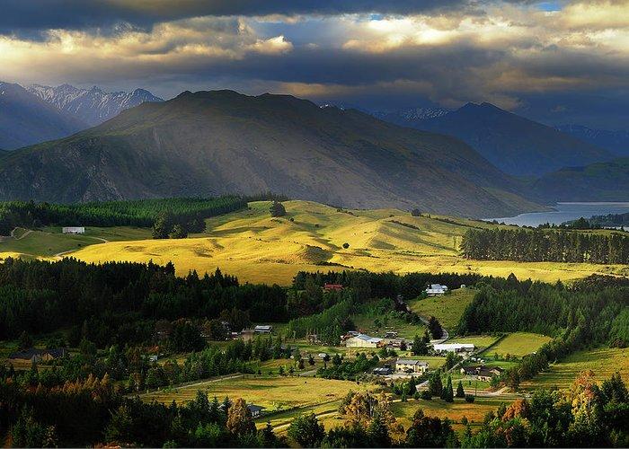 Scenics Greeting Card featuring the photograph Wanaka, New Zealand by Atomiczen