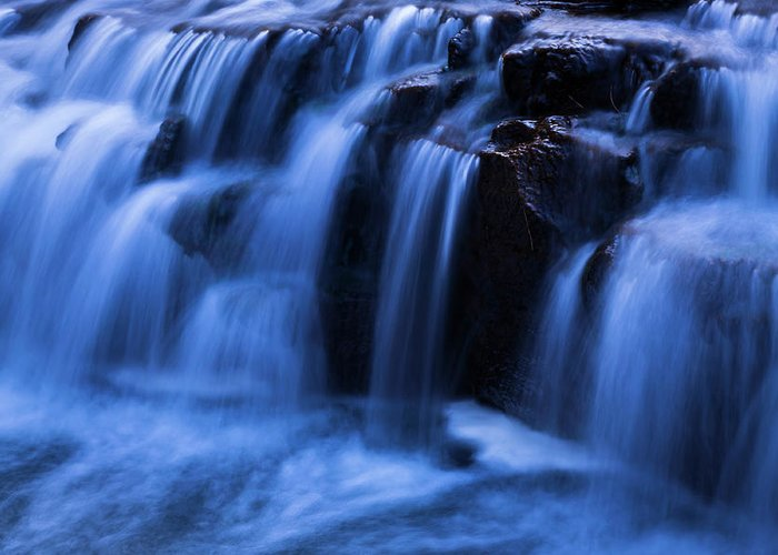 Waterfalls Greeting Card featuring the photograph Waterfalls by Anthony Paladino