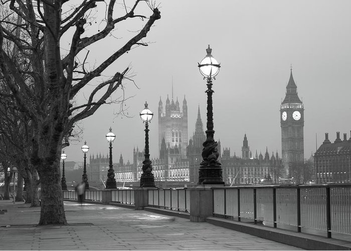 Scenics Greeting Card featuring the photograph Westminster At Dawn, London by Gp232
