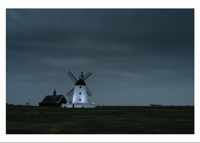 Lytham Greeting Card featuring the photograph Windmill by Mark Mc neill