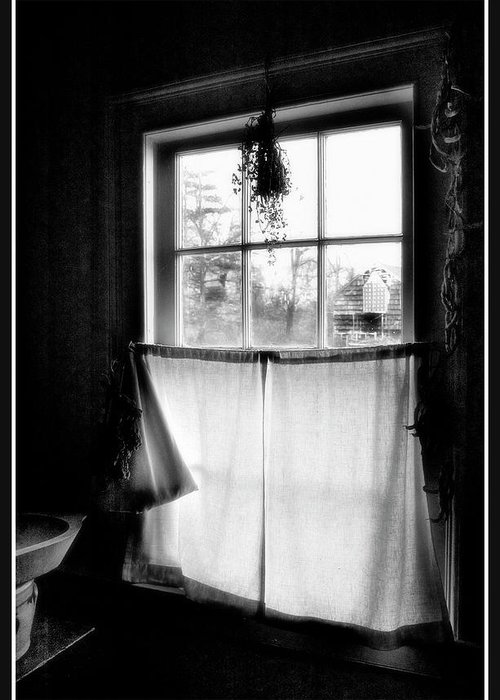 A Kitchen Window Greeting Card featuring the photograph Window Lighting #2 by Harold Silverman - Buildings & Cityscapes
