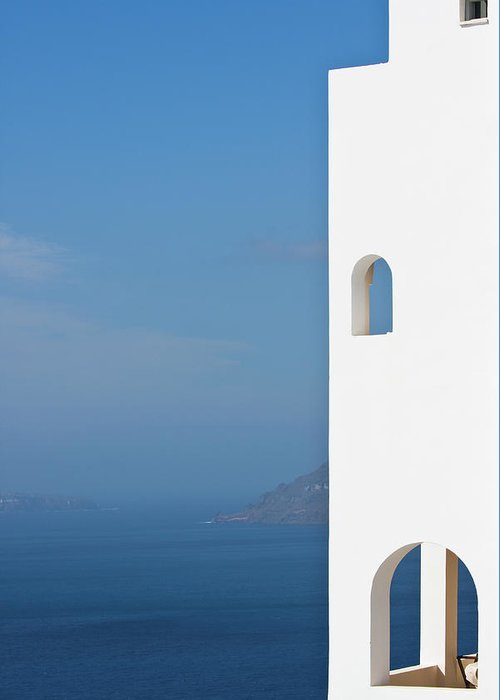 Greece Greeting Card featuring the photograph Windows To The Blue by Arturbo