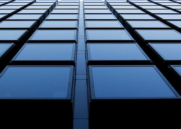 Corporate Business Greeting Card featuring the photograph Windows by Xavierarnau