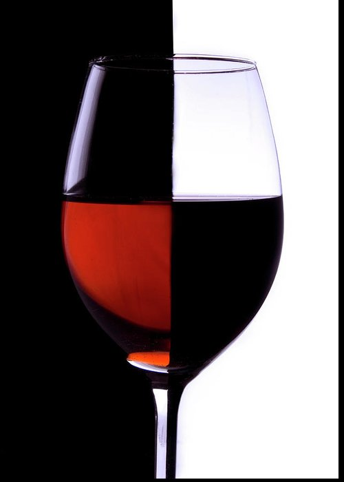 Alcohol Greeting Card featuring the photograph Wineglass by Portishead1
