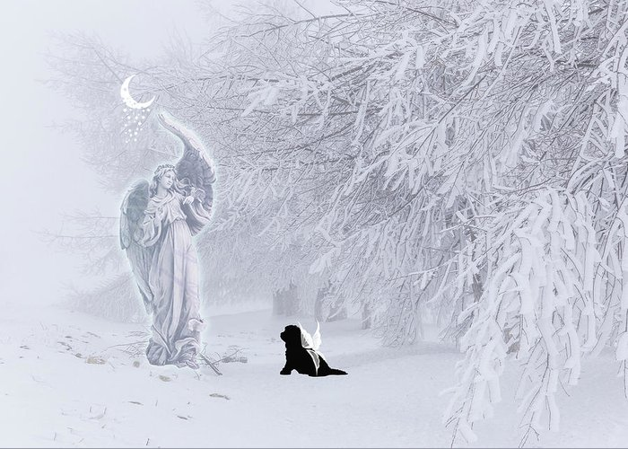 Christine Mullis Greeting Card featuring the digital art Winter Solstice Holiday Card by Christine Mullis