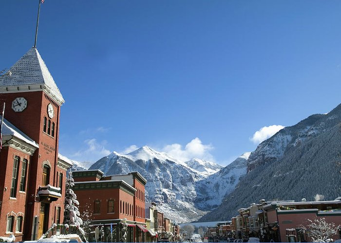 Scenics Greeting Card featuring the photograph Winter Telluride Colorado by Dougberry