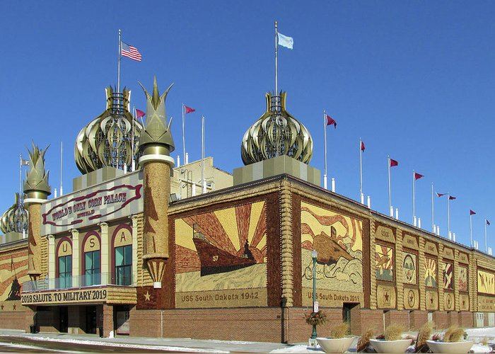 Corn Palace Greeting Card featuring the photograph Worlds Only Corn Palace 2018-19 by Richard Stedman