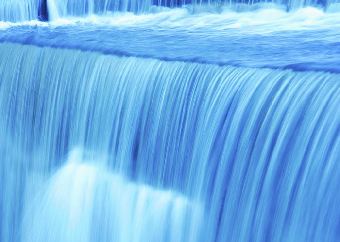 Scenics Greeting Card featuring the photograph Xl Waterfall Close-up by Sharply done