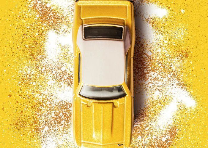 Car Greeting Card featuring the photograph Yellow Street Machine by Jorgo Photography - Wall Art Gallery