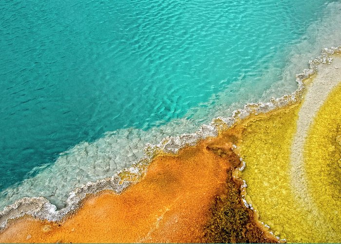 Geology Greeting Card featuring the photograph Yellowstone West Thumb Thermal Pool by Bill Wight Ca