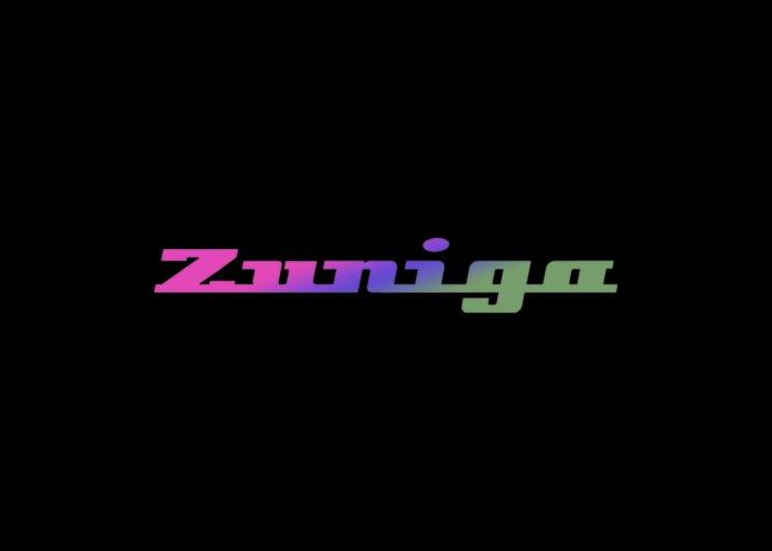 Zuniga Greeting Card featuring the digital art Zuniga #zuniga by TintoDesigns