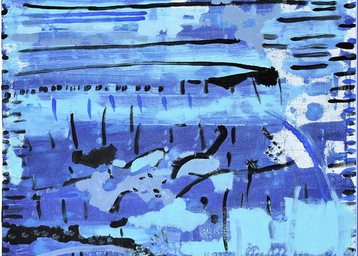 Colorado Greeting Card featuring the painting Something Blue by Pam Roth O'Mara