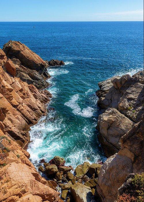 Camino De Ronda Greeting Card featuring the photograph The Cami De Ronda By Lloret De Mar by Vicen Photography