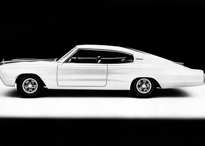 1960s Greeting Card featuring the photograph 1965 Dodge Charger II by Underwood Archives