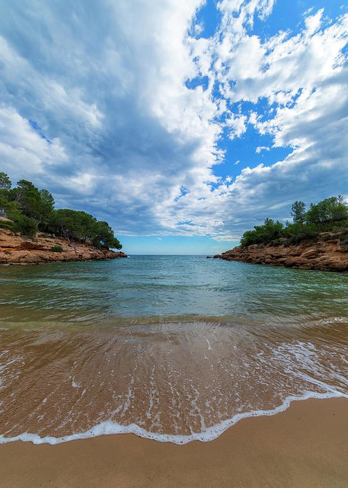 Color Greeting Card featuring the photograph Calafat Beach In Tarragona by Vicen Photography