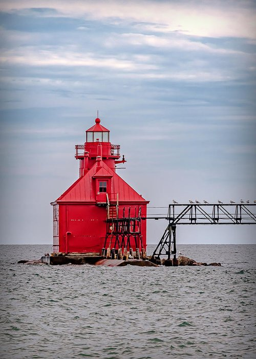 Lighthouse Greeting Card featuring the photograph 20-0607-0037 by Anthony Roma