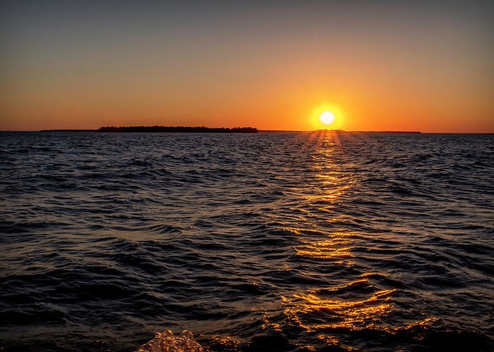 Sunset Greeting Card featuring the photograph 20-0608-0175 by Anthony Roma
