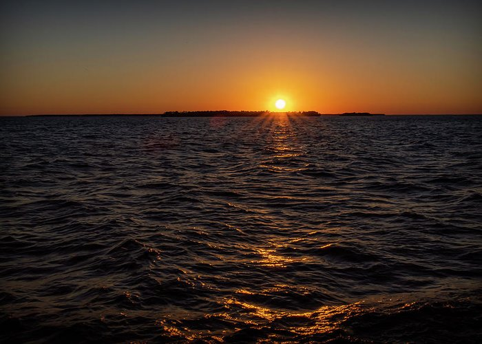 Sunset Greeting Card featuring the photograph 20-0608-0178 by Anthony Roma
