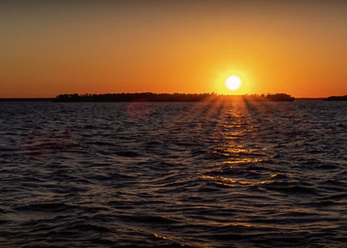 Sunset Greeting Card featuring the photograph 20-0608-0178 Pan by Anthony Roma