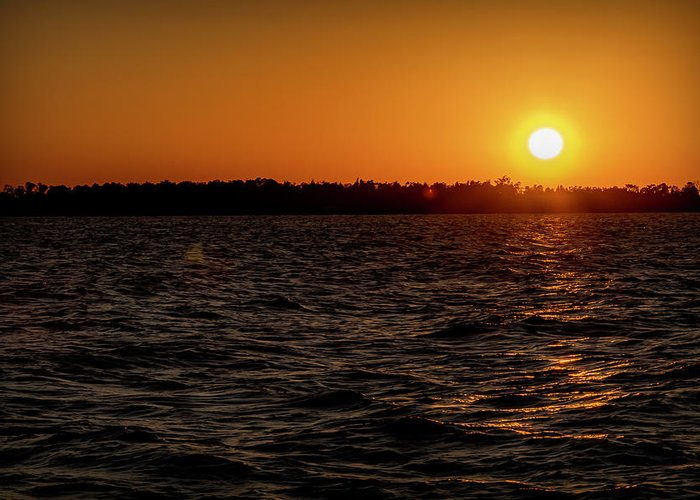 Sunset Greeting Card featuring the photograph 20-0608-0179 by Anthony Roma