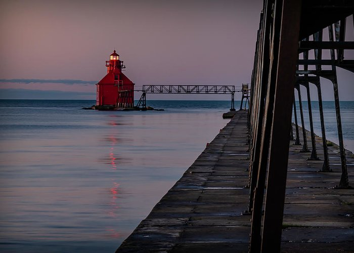 Lighthouse Greeting Card featuring the photograph 20-0611-0313 by Anthony Roma