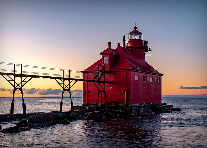 Lighthouse Greeting Card featuring the photograph 20-0611-0324 by Anthony Roma