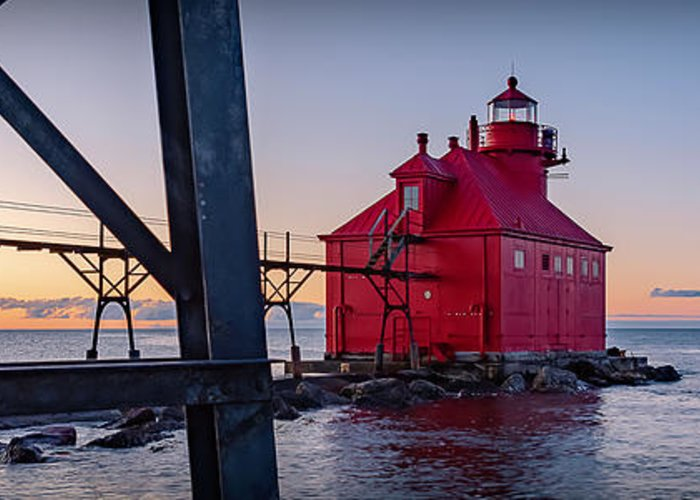 Lighthouse Greeting Card featuring the photograph 20-0611-0329 by Anthony Roma