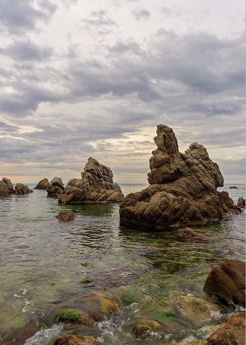 Spain Greeting Card featuring the photograph Cala Dels Frares In Lloret De Mar, Girona by Vicen Photography