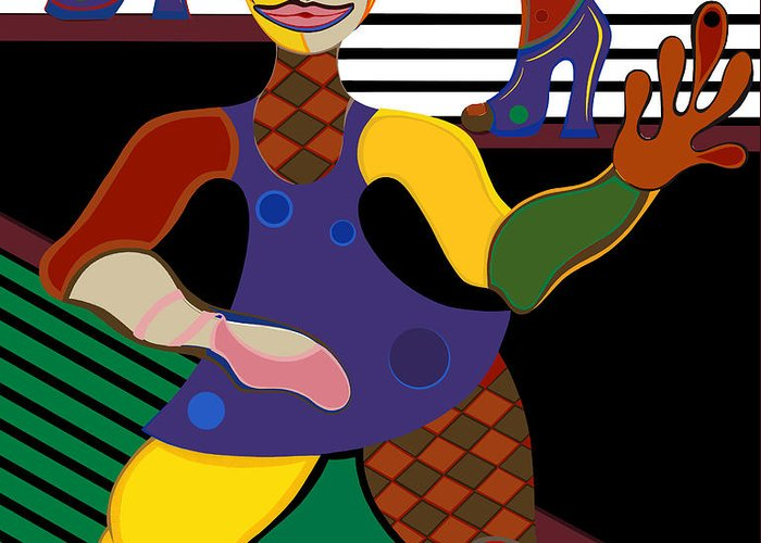 Pop Art Greeting Card featuring the painting A Dancers Life For Me by Ruby Persson