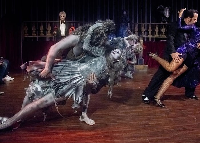 Adams Family Greeting Card featuring the photograph Adams Family Dance by Alan D Smith