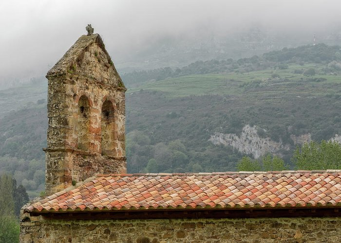 Asturias Greeting Card featuring the photograph An Old Hermitage In Asturias by Vicen Photography