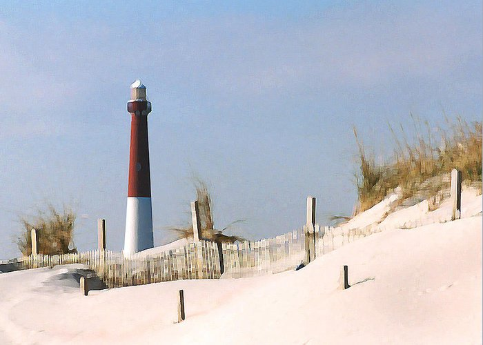 Barnegat Greeting Card featuring the photograph Barnegat Lighthouse by Steve Karol