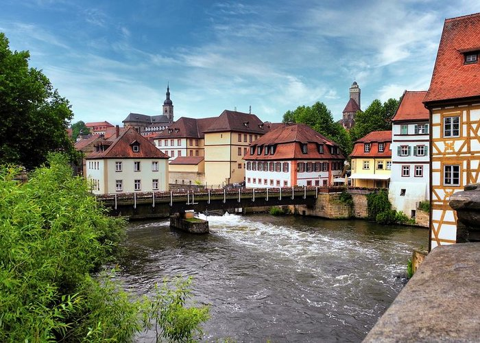 Bamberg Greeting Card featuring the photograph Beautiful Bamberg on the River by Kirsten Giving