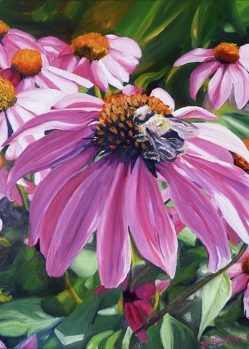 Bee Greeting Card featuring the painting Bee Conscious by Brittany Bert Selfe