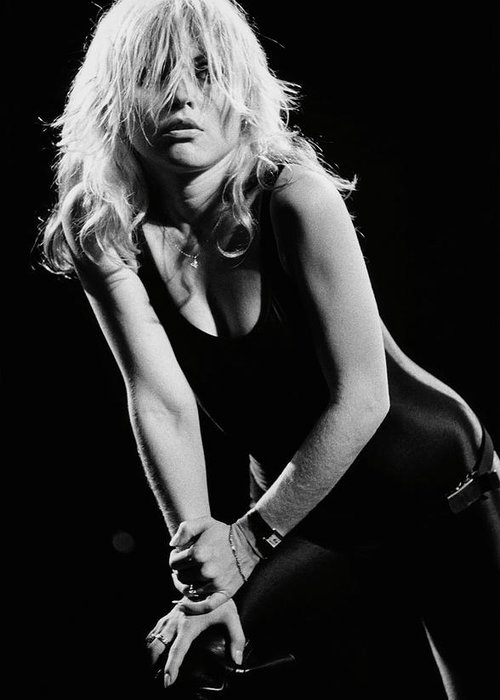 Rock Music Greeting Card featuring the photograph Blondie In Concert At The Whiskey by George Rose