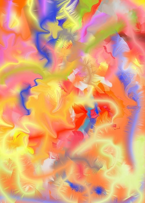Abstract Greeting Card featuring the painting Bright Day by Peter Shor