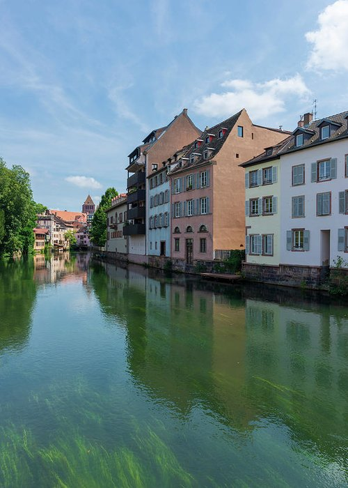 Estrasburgo Greeting Card featuring the photograph Canal Through The City Of Strasbourg by Vicen Photography