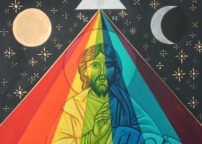 Greeting Card featuring the painting Christ the Light by Kelly Latimore