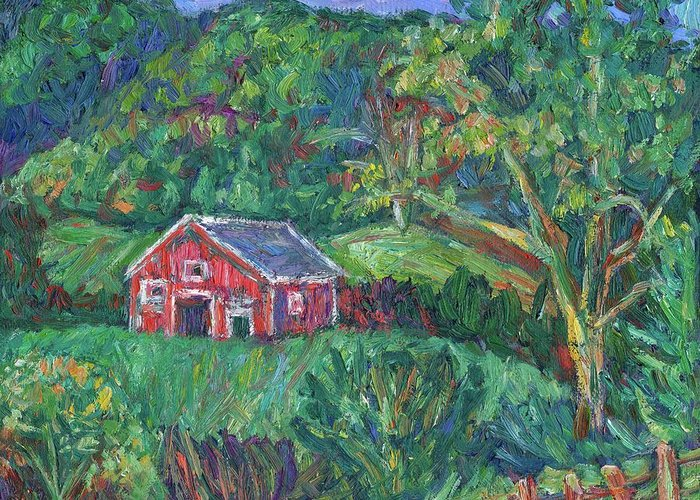 Rural Greeting Card featuring the painting Clover Hollow in Giles County by Kendall Kessler