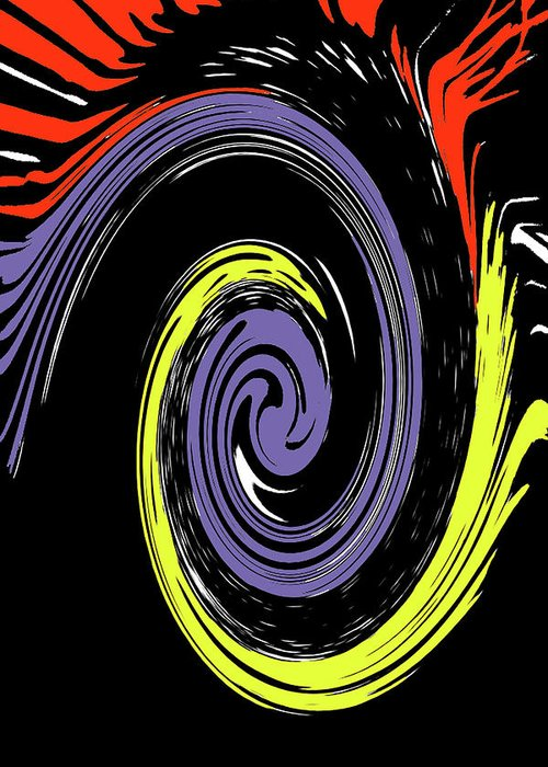 Abstract Greeting Card featuring the photograph Colorful Swirl by Holly Morris