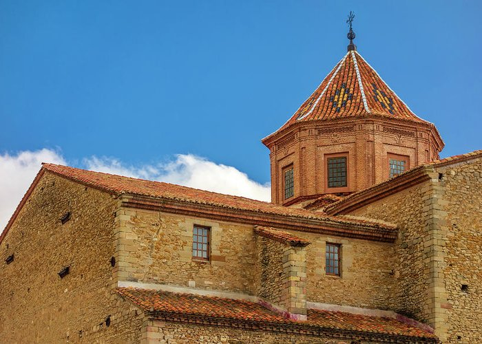 Cantavieja Greeting Card featuring the photograph Constructions In The Town Of Cantavieja, Teruel by Vicen Photography