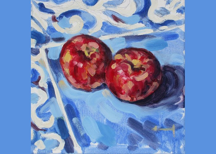 Delicious Greeting Card featuring the painting Cool and Crisp by Thomas Dans